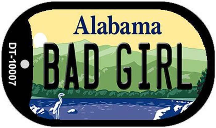 Bad Girl Alabama Wholesale Novelty Metal Dog Tag Necklace DT-10007