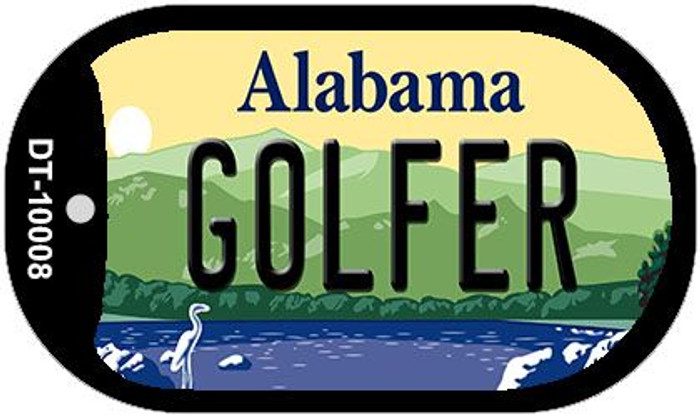 Golfer Alabama Wholesale Novelty Metal Dog Tag Necklace DT-10008