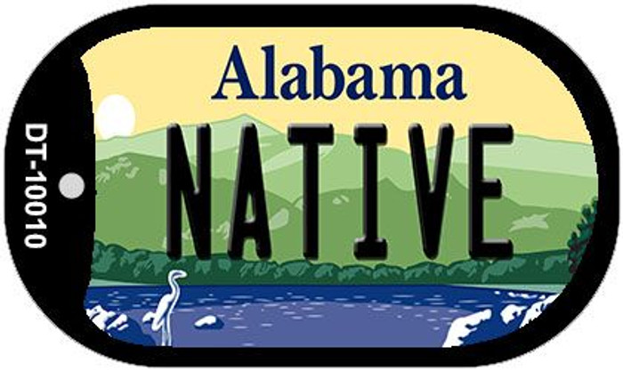 Native Alabama Wholesale Novelty Metal Dog Tag Necklace DT-10010