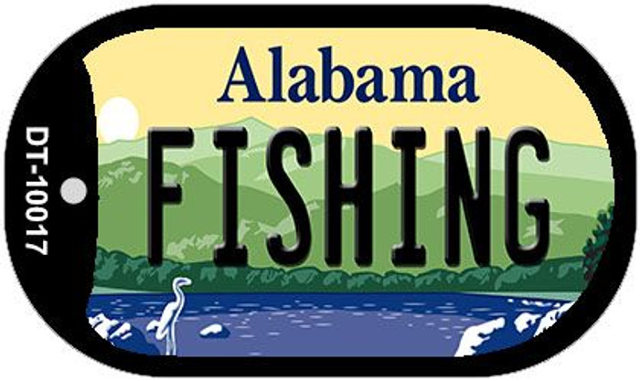 Fishing Alabama Wholesale Novelty Metal Dog Tag Necklace DT-10017