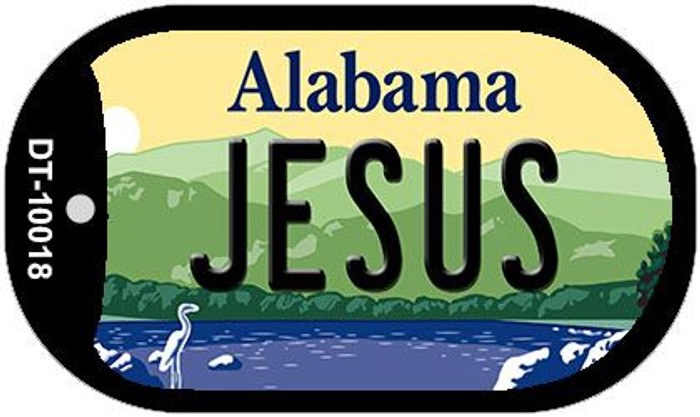 Jesus Alabama Wholesale Novelty Metal Dog Tag Necklace DT-10018