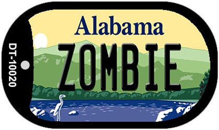 Zombie Alabama Wholesale Novelty Metal Dog Tag Necklace DT-10020