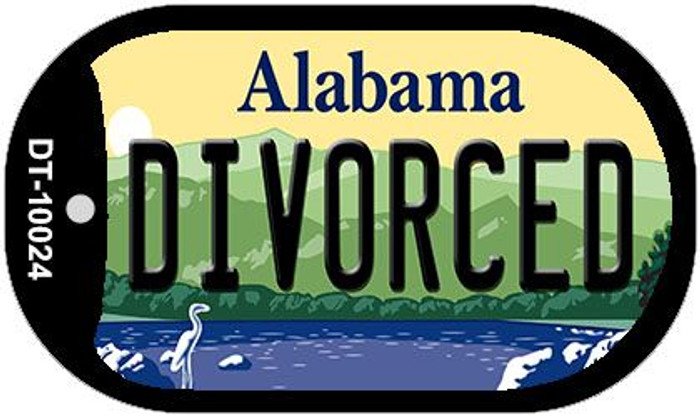 Divorced Alabama Wholesale Novelty Metal Dog Tag Necklace DT-10024