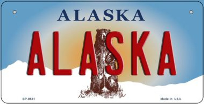 Alaska Wholesale Novelty Metal Bicycle Plate BP-9581
