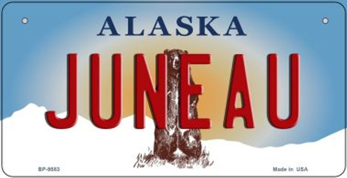 Juneau Alaska Wholesale Novelty Metal Bicycle Plate BP-9583