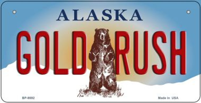 Gold Rush Alaska Wholesale Novelty Metal Bicycle Plate BP-9592
