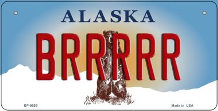 Brrrrr Alaska Wholesale Novelty Metal Bicycle Plate BP-9593