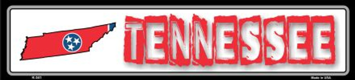 Tennessee State Outline Wholesale Novelty Metal Vanity Mini Street Sign K-341