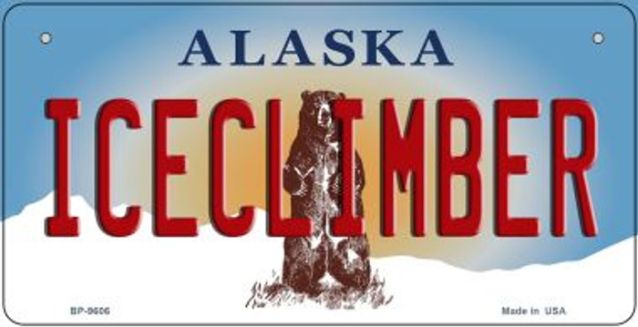 Iceclimber Alaska Wholesale Novelty Metal Bicycle Plate BP-9606