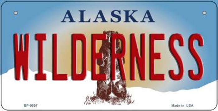 Wilderness Alaska Wholesale Novelty Metal Bicycle Plate BP-9607