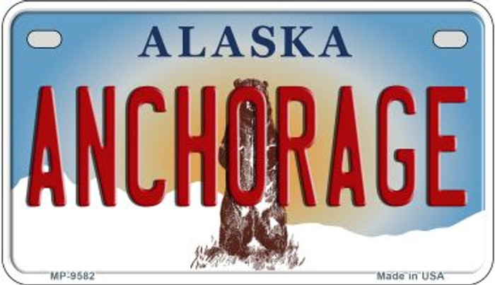 Anchorage Alaska Wholesale Novelty Metal Motorcycle Plate MP-9582