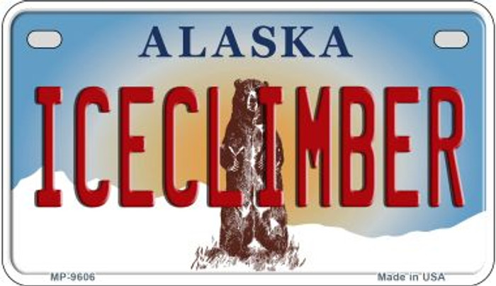 Iceclimber Alaska Wholesale Novelty Metal Motorcycle Plate MP-9606