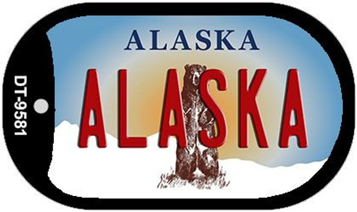 Alaska Wholesale Novelty Metal Dog Tag Necklace DT-9581