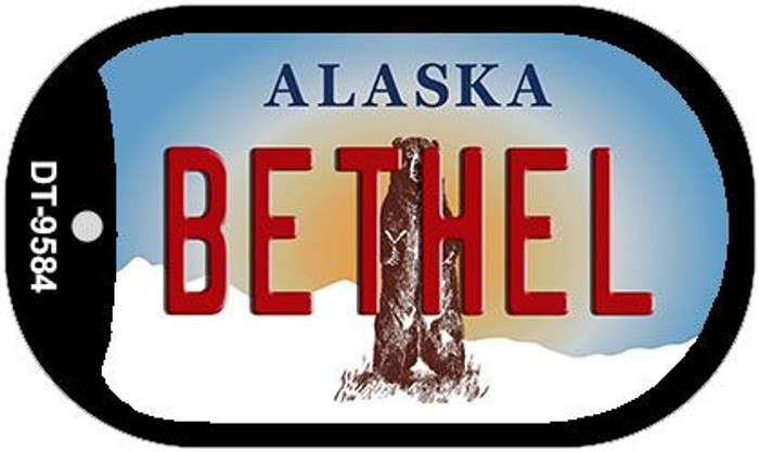 Bethel Alaska Wholesale Novelty Metal Dog Tag Necklace DT-9584