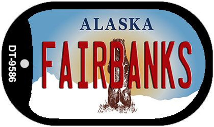 Fairbanks Alaska Wholesale Novelty Metal Dog Tag Necklace DT-9586
