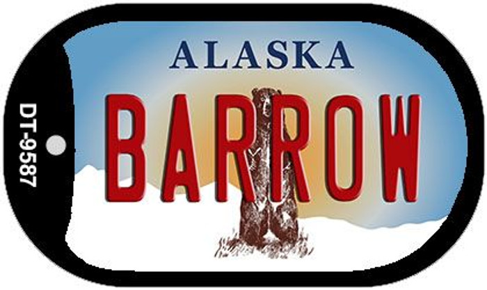 Barrow Alaska Wholesale Novelty Metal Dog Tag Necklace DT-9587