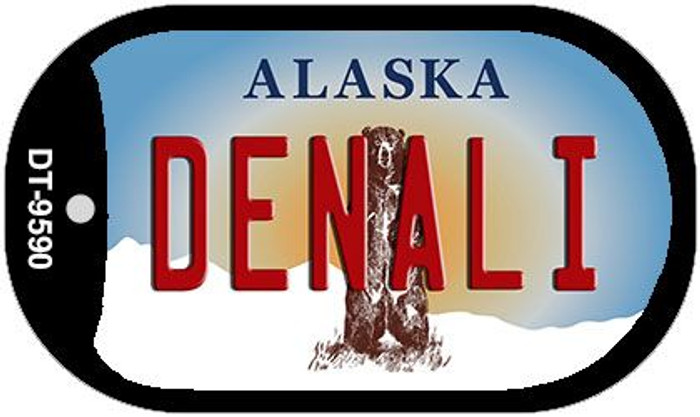 Denali Alaska Wholesale Novelty Metal Dog Tag Necklace DT-9590