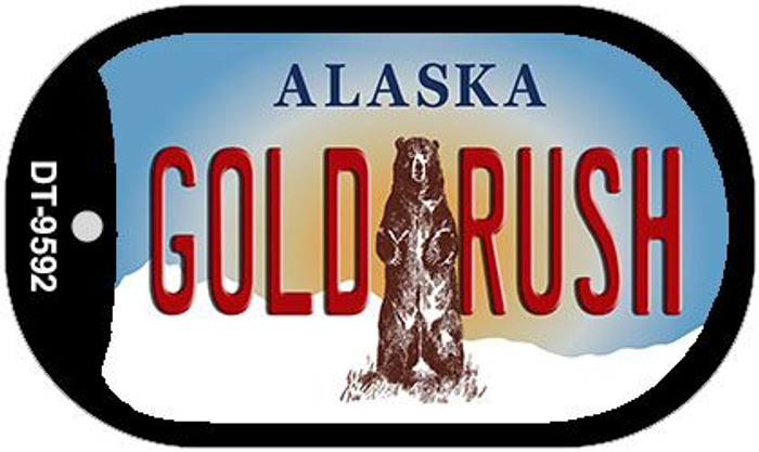 Gold Rush Alaska Wholesale Novelty Metal Dog Tag Necklace DT-9592