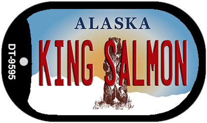 King Salmon Alaska Wholesale Novelty Metal Dog Tag Necklace DT-9595