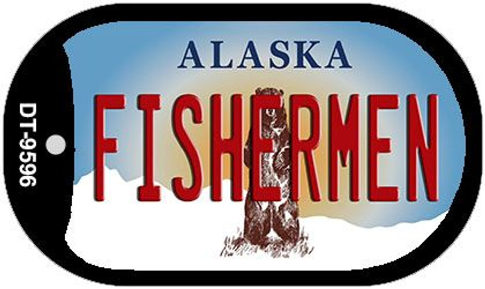 Fishermen Alaska Wholesale Novelty Metal Dog Tag Necklace DT-9596