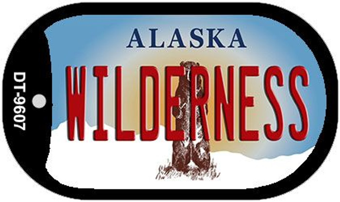 Wilderness Alaska Wholesale Novelty Metal Dog Tag Necklace DT-9607
