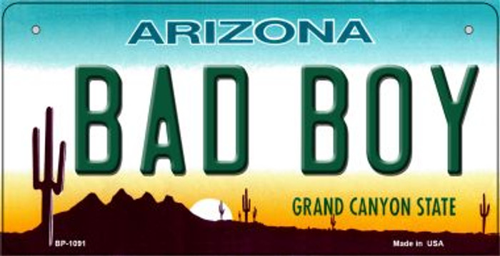 Bad Boy Arizona Wholesale Novelty Metal Bicycle Plate BP-1091