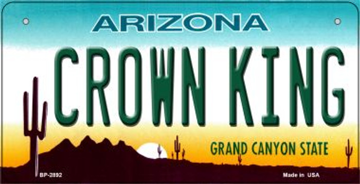 Crown King Arizona Wholesale Novelty Metal Bicycle Plate BP-2892