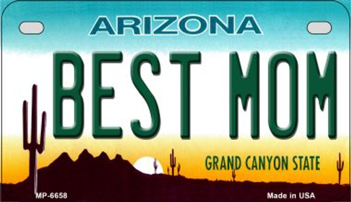 Best Mom Arizona Wholesale Novelty Metal Motorcycle Plate MP-6658