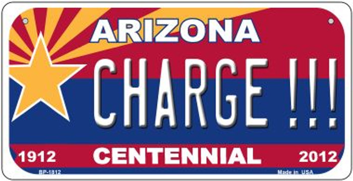 Charge!!! Arizona Centennial Wholesale Novelty Metal Bicycle Plate BP-1812