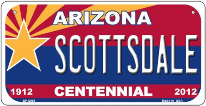 Scottsdale Arizona Centennial Wholesale Novelty Metal Bicycle Plate BP-6801