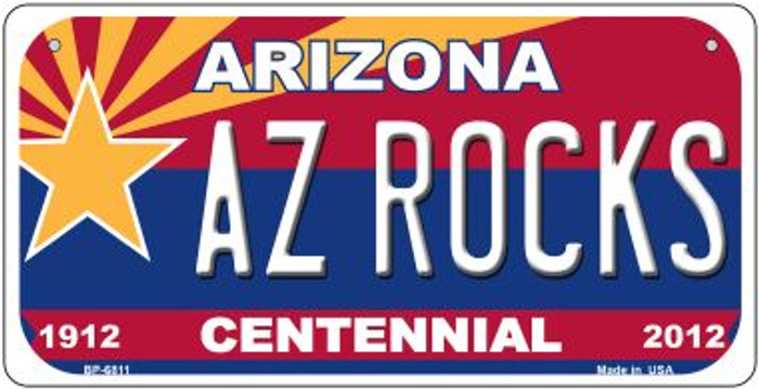 AZ Rocks Arizona Centennial Wholesale Novelty Metal Bicycle Plate BP-6811