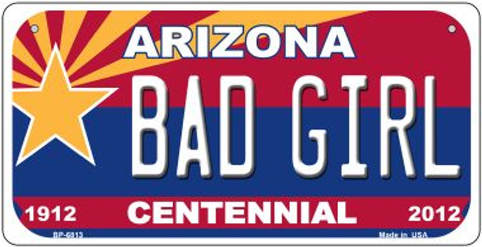Bad Girl Arizona Centennial Wholesale Novelty Metal Bicycle Plate BP-6813