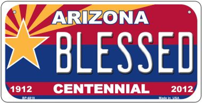 Blessed Arizona Centennial Wholesale Novelty Metal Bicycle Plate BP-6818