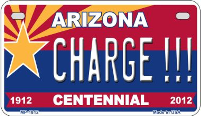 Charge!!! Arizona Centennial Wholesale Novelty Metal Motorcycle Plate MP-1812
