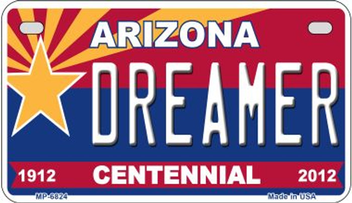 Dreamer Arizona Centennial Wholesale Novelty Metal Motorcycle Plate MP-6824