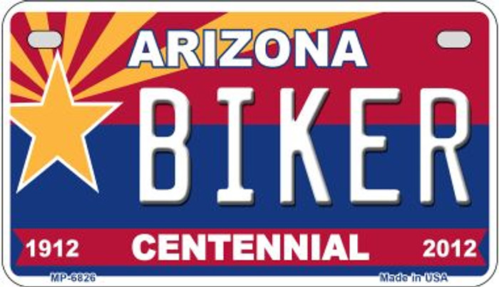 Biker Arizona Centennial Wholesale Novelty Metal Motorcycle Plate MP-6826