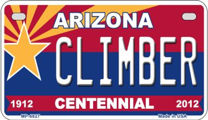 Climber Arizona Centennial Wholesale Novelty Metal Motorcycle Plate MP-6827