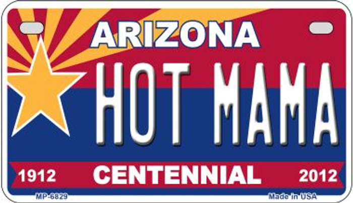 Hot Mama Arizona Centennial Wholesale Novelty Metal Motorcycle Plate MP-6829