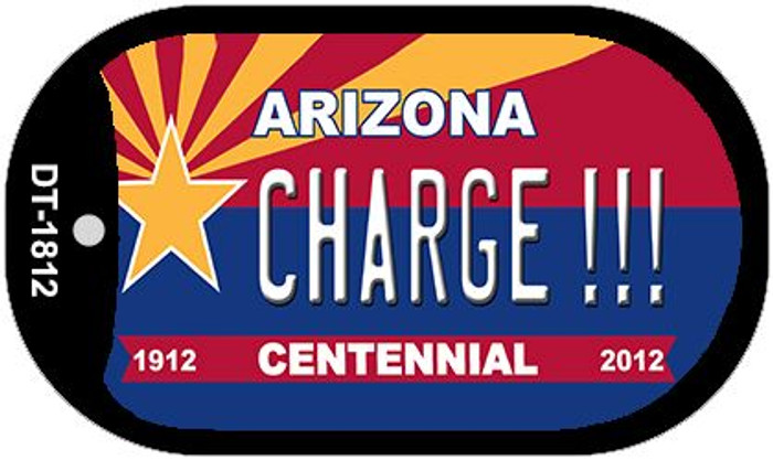 Charge!!! Arizona Centennial Wholesale Novelty Metal Dog Tag Necklace DT-1812