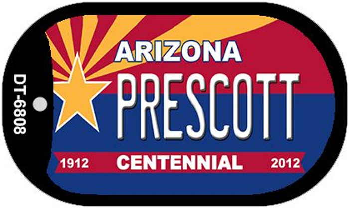 Prescott Arizona Centennial Wholesale Novelty Metal Dog Tag Necklace DT-6808