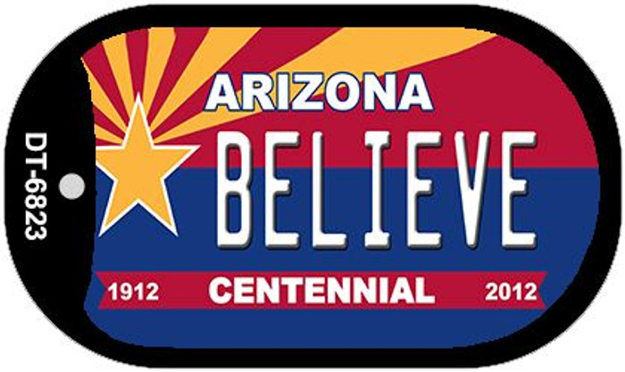 Believe Arizona Centennial Wholesale Novelty Metal Dog Tag Necklace DT-6823
