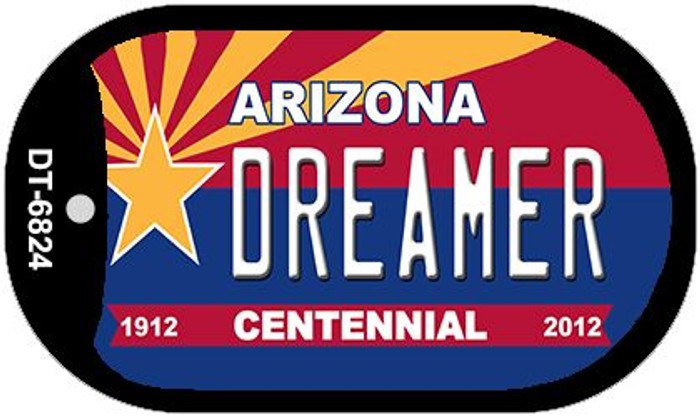 Dreamer Arizona Centennial Wholesale Novelty Metal Dog Tag Necklace DT-6824