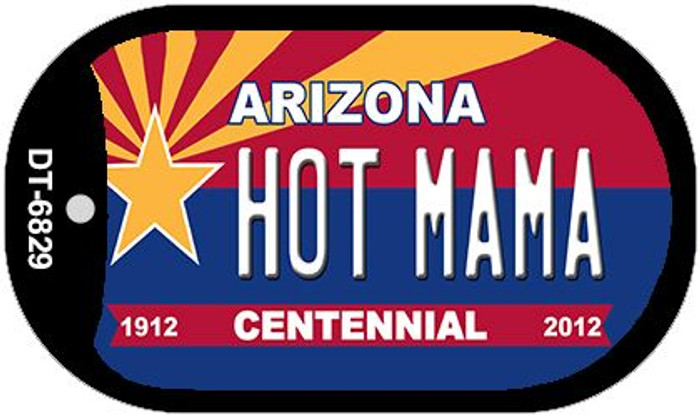Hot Mama Arizona Centennial Wholesale Novelty Metal Dog Tag Necklace DT-6829