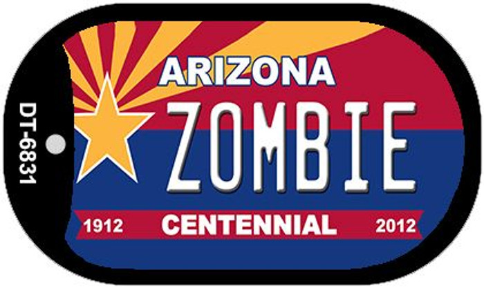 Zombie Arizona Centennial Wholesale Novelty Metal Dog Tag Necklace DT-6831