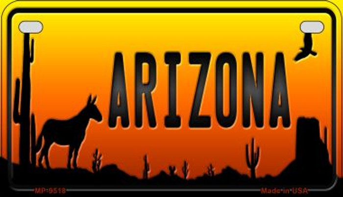 Donkey Arizona Western Wholesale Novelty Metal Motorcycle Plate MP-9518