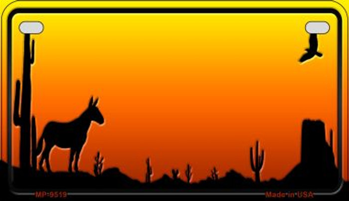 Donkey Sunset Arizona Western Wholesale Novelty Metal Motorcycle Plate MP-9519