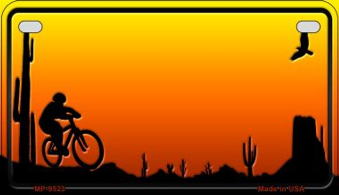 Bike Sunset Arizona Western Wholesale Novelty Metal Motorcycle Plate MP-9523