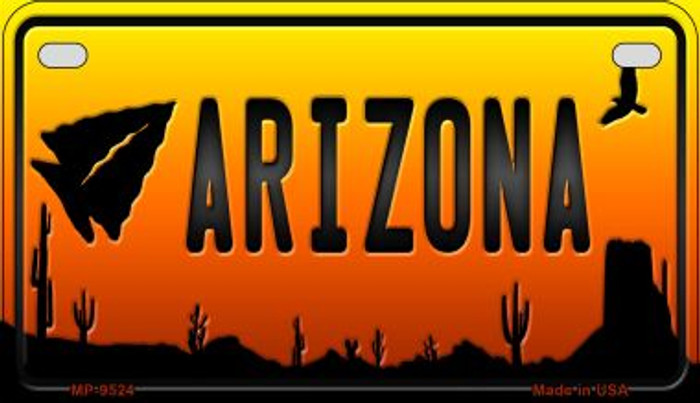 Arrowhead Arizona Western Wholesale Novelty Metal Motorcycle Plate MP-9524