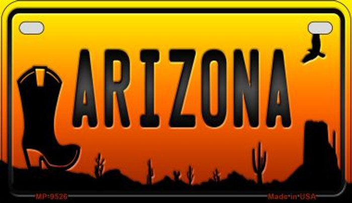 Boot Arizona Western Wholesale Novelty Metal Motorcycle Plate MP-9526
