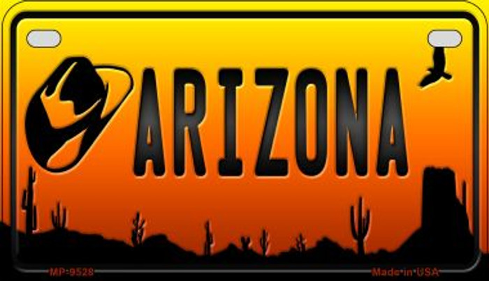 Hat Arizona Western Wholesale Novelty Metal Motorcycle Plate MP-9528